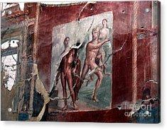 Herculaneum Fresco Acrylic Print by Erik Falkensteen