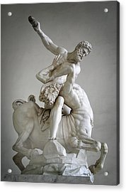 Hercules And Centaur Sculpture Acrylic Print by Artecco Fine Art Photography