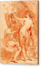 Acrylic Print featuring the painting Hercules And Omphale by Pg Reproductions