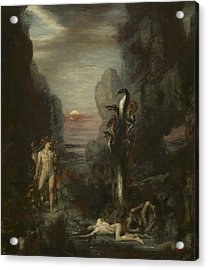 Hercules And The Lernaean Hydra Acrylic Print by Gustave Moreau