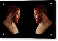 Acrylic Print featuring the mixed media Hercules - Gingers by Shawn Dall