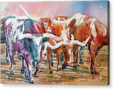 Herd Of Horns Acrylic Print by Ron Stephens