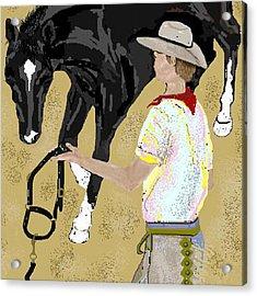 Here Boy Acrylic Print by Carole Boyd