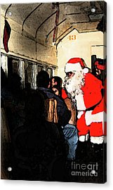Acrylic Print featuring the photograph Here Come Santa by Kim Henderson