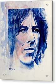 Here Comes The Sun - George Harrison Acrylic Print by William Walts