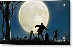 Here Comes The Zombies Acrylic Print by Bedros Awak