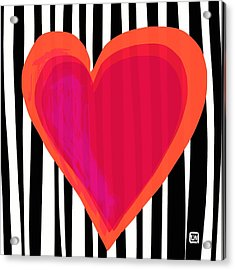 Acrylic Print featuring the painting Here Is My Heart by Lisa Weedn