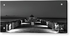 Acrylic Print featuring the photograph Here It Comes Folly Beach Pier Sunrise Art by Reid Callaway