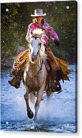 Here She Comes Acrylic Print by Janet Fikar