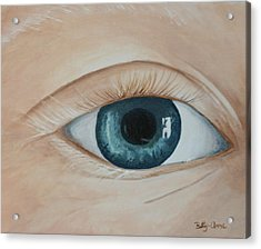 Acrylic Print featuring the painting Heres Looking At You by Betty-Anne McDonald