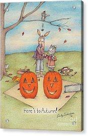 Here's To Autumn Acrylic Print