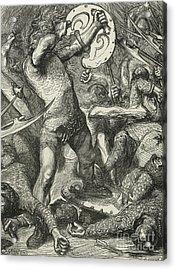 Hereward Cutting His Way Through The Norman Host Acrylic Print
