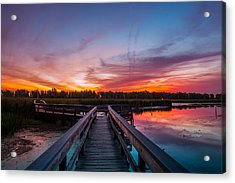 Acrylic Print featuring the photograph Heritage Boardwalk Twilight by Chris Bordeleau