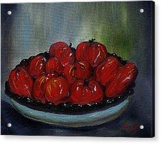 Heritage Tomatoes Acrylic Print by Judith Rhue