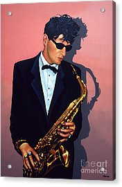 Herman Brood Acrylic Print by Paul Meijering