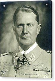 Herman Goering Autographed Photo 1945 Color Added 2016 Acrylic Print