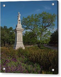 Hermann Park Confederate Monument Acrylic Print by Joshua House