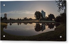 Hermann Park Sunrise Acrylic Print by Joshua House