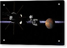 Acrylic Print featuring the digital art Hermes1 In Sight Of Mars by David Robinson