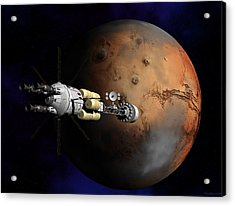 Hermes1 Orbit Insertion Acrylic Print