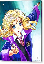 Hermione Acrylic Print by David Lloyd Glover