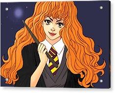 Hermione Granger  Acrylic Print by Jennifer Campbell