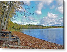 Fall Picnic In Maine Acrylic Print by Glenn Gordon