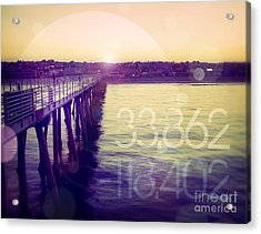 Acrylic Print featuring the photograph Hermosa Beach California by Phil Perkins