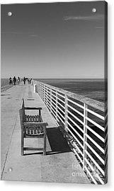 Hermosa Beach Seat Acrylic Print