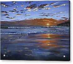 Hermosa Sunset Acrylic Print by Lisa Reinhardt