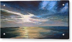Herne Bay Sunset Acrylic Print by Paul Mitchell