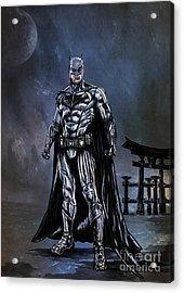 Acrylic Print featuring the painting Hero by Andrzej Szczerski