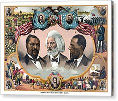 Heroes Of The Colored Race  Acrylic Print by War Is Hell Store