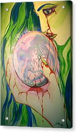Acrylic Print featuring the painting Heroin by Tbone Oliver