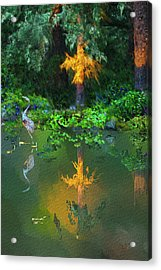 Acrylic Print featuring the digital art Heron Art by Dale Stillman