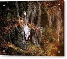 Heron Camouflage Acrylic Print