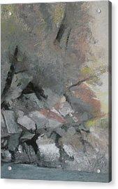 Heron Lake Winter Glow Acrylic Print by Anita Stoll