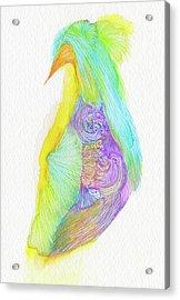 Heron - #ss16dw038 Acrylic Print by Satomi Sugimoto