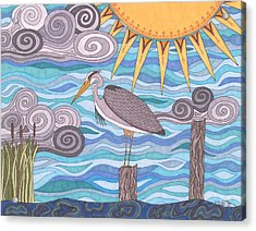 Heron's Watch Acrylic Print
