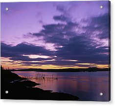 Herring Weir, Sunset Acrylic Print
