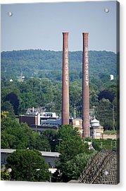 Hershey Smokestacks Acrylic Print