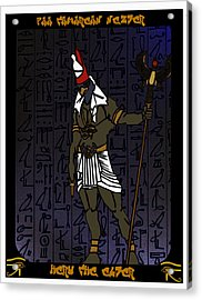 Heru The Elder Acrylic Print by Derrick Colter