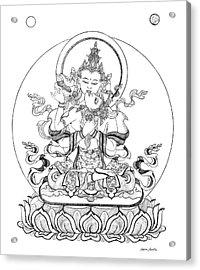 Heruka-vajrasattva -buddha Of Purification Acrylic Print