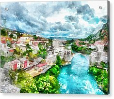 Herzegovina Vista Acrylic Print by Shirley Stalter