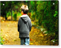 Hes Just A Lonely Boy Acrylic Print by Paul W Sharpe Aka Wizard of Wonders