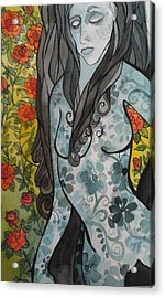 Hesitation Acrylic Print by Claudia Cole Meek