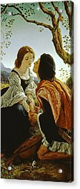 Hesperus The Evening Star Sacred To Lovers Acrylic Print by Sir Joseph Noel Paton