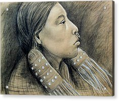 Hesquiat Maiden Acrylic Print by Linda Nielsen