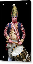 Hessian Grenadier Drummer Acrylic Print by Dave Mills