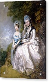Hester Countess Of Sussex And Her Daughter Lady Barbara Yelverton  Acrylic Print by Thomas Gainsborough